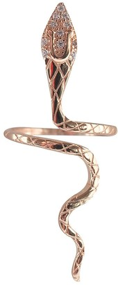 Wild Hearts Aria Snake Ring Rose Gold