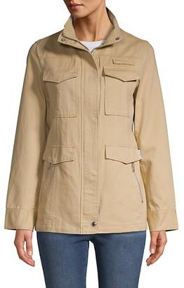 Sam Edelman Long-Sleeve Cotton Twill Jacket