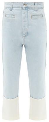 Loewe Fisherman Turn-up Cropped-leg Jeans - Denim
