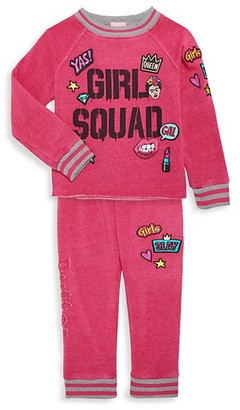 Butter Shoes Little Girl's 2-Piece Girl Squad Sweatshirt Joggers Set