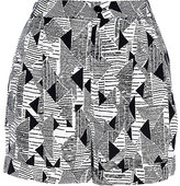 River Island Womens Black geometric print high waisted shorts