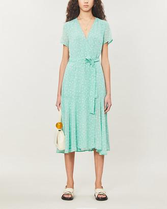 Samsoe & Samsoe Klea floral-print chiffon midi dress