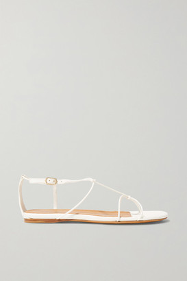 Zimmermann Knotted Leather Sandals - White