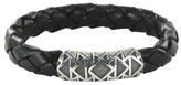 David Yurman Frontier Sterling Silver & Leather Bracelet