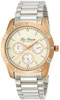 Ted Baker Women's TE4085 Dress Sport Cream Dial Rose Gold Case Silver Bracelet Watch