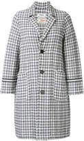 Coohem tricolour tweed coat