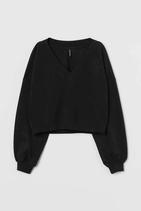 Thumbnail for your product : H&M V-neck Sweatshirt - Black