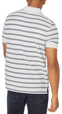 Nautica Men's Slim-Fit Performance Striped Deck Polo Shirt