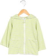 Oscar de la Renta Girls' Striped Terry Cloth Jacket