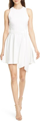 Alice + Olivia Wesley Belted Fit & Flare Dress