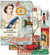 Cavallini & Co. London 4x5, 3 Mini Notebooks