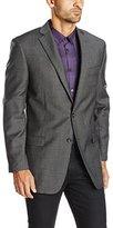Calvin Klein Men's 2 Button Slim Fit Sport Coat, Grey, 42/Regular