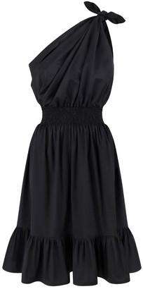 Demi One Shoulder Black Dress