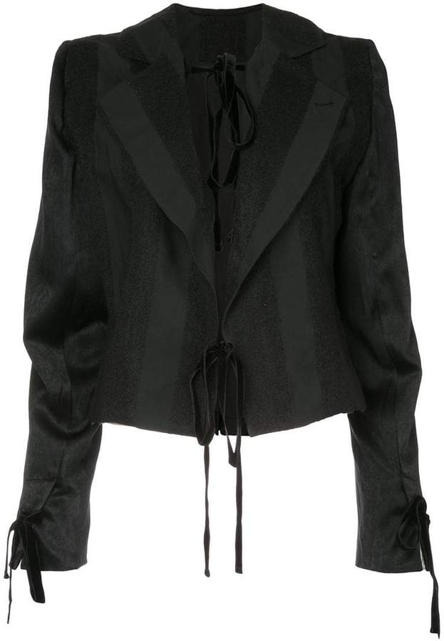 Ann Demeulemeester Carlyle ribbon detail jacket