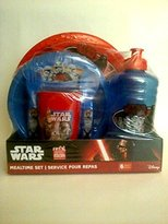 Zak Designs Star Wars 6-Piece Mealtime Set Includes Plate, Bowl, Fork, Spoon, Cup and Bottle, BPA Free by Disney