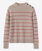 Toast Stripe Wool/Cotton Sweater