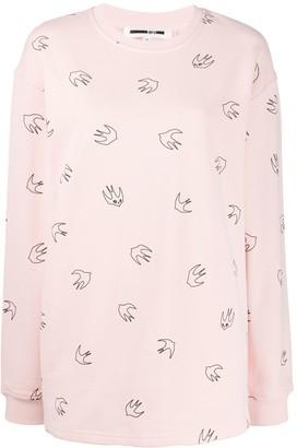 McQ bird print sweater