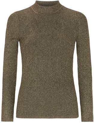 Sandro Lurex Ribbed Sweater