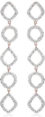 Monica Vinader Riva Mini Cluster Diamond Cocktail Earrings