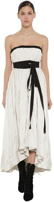 Brock Collection Asymmetric Strapless Poplin Dress