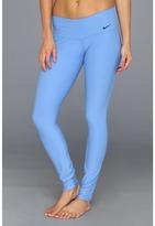 Nike Legend 2.0 Tight Low Rise Pant (Distance Blue/Black) - Apparel