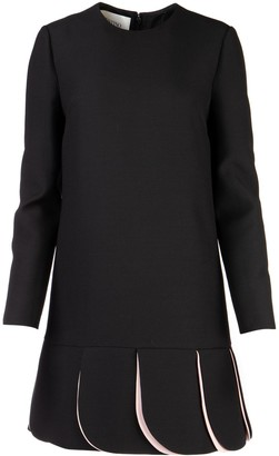 Valentino Crepe Long Sleeve Dress