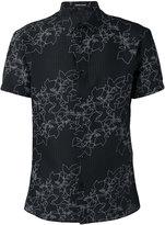 Emporio Armani floral-embroidered shirt - men - Cotton/Polyamide/Polyester/Spandex/Elastane - 42