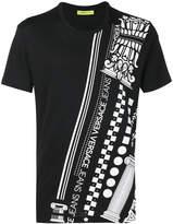 Versace logo and pattern print T-shirt