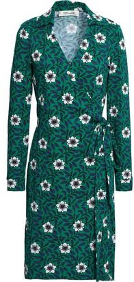 Diane von Furstenberg Floral-print Cotton And Silk-blend Jersey Wrap Dress