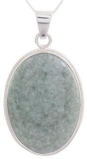 Novica Handmade Reversible Jade Pendant Necklace, 'Light Green Mystique'