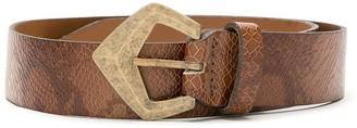Nk Leather Textured Belt