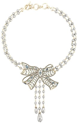 Marchesa Nightingale bow necklace