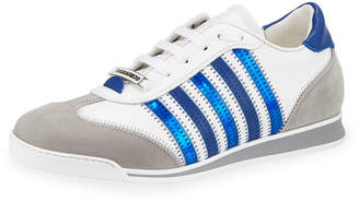 DSQUARED2 Men's Contrast-Stripe Canvas & Leather Sneakers