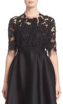 Women's Reem Acra Embellished Re-Embroidered Lace Jacket