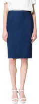 Zara Pencil Skirt With Top Stitching