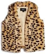 Bardot Junior Girls' Leopard Print Faux-Fur Vest - Baby