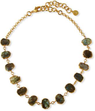 Nest Jewelry Labradorite Bezel-Strand Necklace
