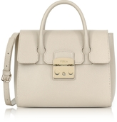Furla Creta Grained Leather Metropolis Small Satchel Bag