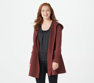zuda Z-Ultrasoft Hooded Long-Sleeve Cardigan