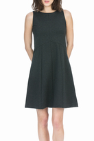 Lilla P Ponte Seamed Dress
