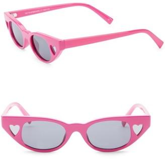 Le Specs 56MM x Adam Selman The Heartbreaker Cateye Sunglasses