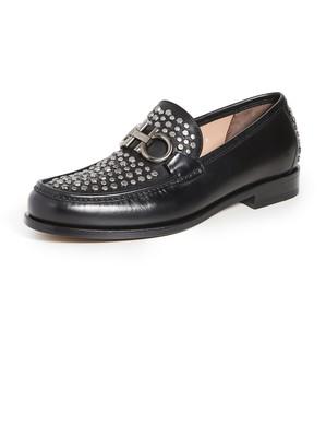 Salvatore Ferragamo Rolo Studded Loafers