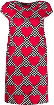 Love Moschino Heart Checkered Print Dress