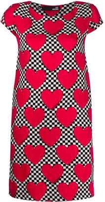 Love Moschino heart checkered print dress