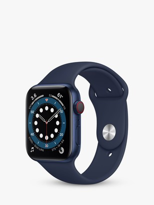 Apple Watch Series 6 GPS + Cellular, 44mm Blue Aluminium Case with Deep Navy Sport Band - Regular