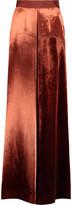 DELPOZO Velvet wide-leg pants