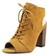 Jessica Simpson Klaya Women Peep-toe Suede Brown Bootie.