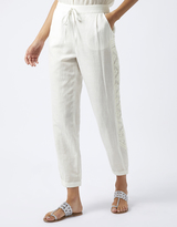 Monsoon Anouk Embroidered Linen Trousers