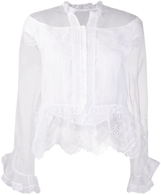 Ermanno Scervino Layered Sheer Blouse