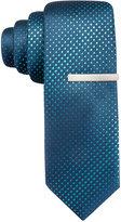 Alfani Men's Aqua Skinny Tie, Only at Macy's